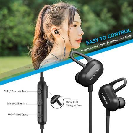 HAMMER Swing Sweatproof Wireless Bluetooth Earphones