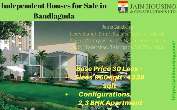 Independent Houses for sale in Bandlaguda - Hyderabad