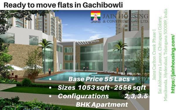 Residential flats in Gachibowli - Hyderabad