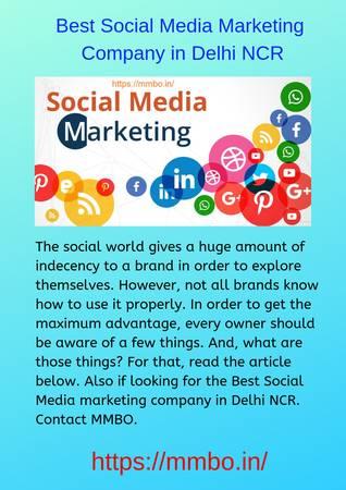Best Social Media marketing company in Delhi NCR