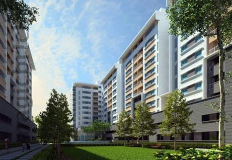 Purva Midtown Residences: 3 BHK Semi Furnished Flat RENT