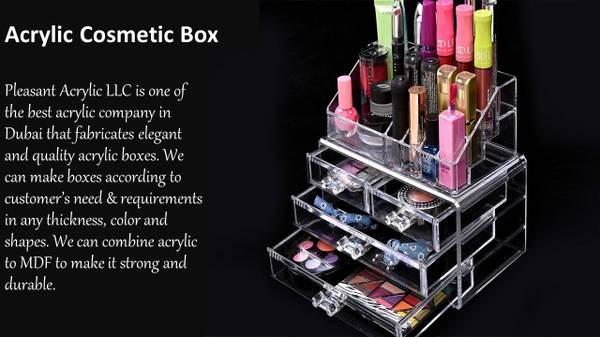 Acrylic Cosmetic Box in Dubai