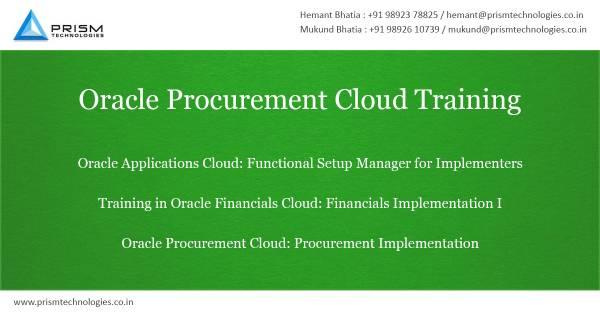 Oracle Procurement Cloud Training Mumbai Pune Bangalore
