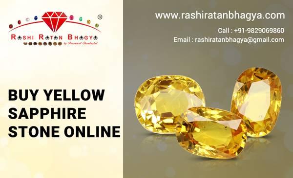 Buy Yellow Sapphire Stone Online at Best Price | Rashi Ratan