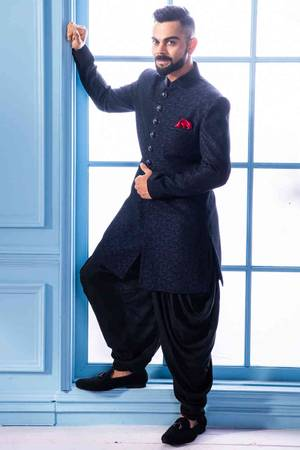 Elegant Indo Western Suit for men online only at Manyavar.