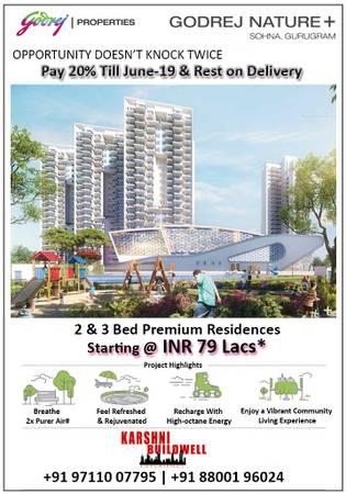Godrej Nature +: 2 & 3 BHK Premium Apartments in Sector 33