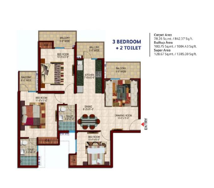 Choose 2 & 3 BHK Residential Apartments in Noida Extension