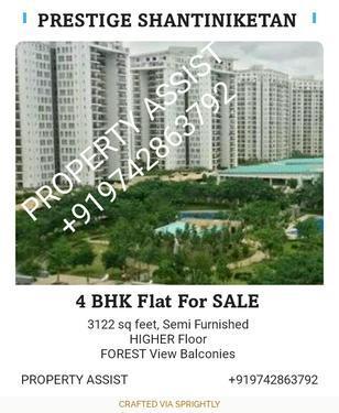 Prestige Shantiniketan: 4 BHK Semi Furnished Flat for SALE