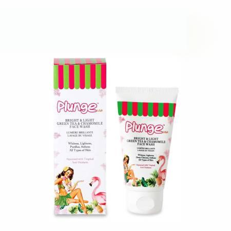 Buy Plunge Bright & Light Green Tea & Chamomile Face Wash