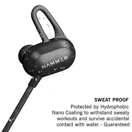Hammer Swing Sweatproof Bluetooth Earphones With Mic