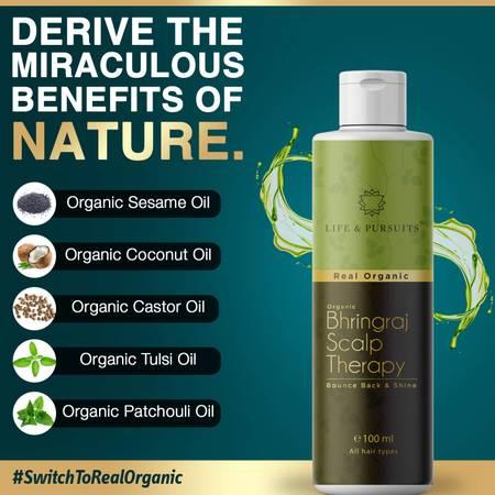 Life & Pursuits Organic Bhringraj Hair Oil