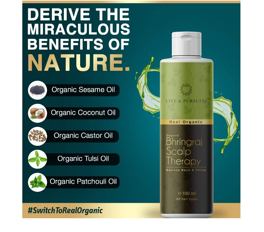 Life & Pursuits Organic Bhringraj Hair Oil Chandigarh