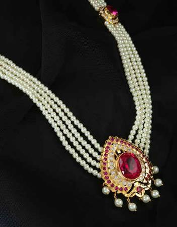 Beautiful Rani Haar Design & Pearl Set For Women at Anuradha