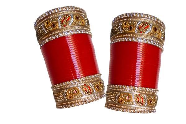 Designer Wedding Engagement Punjabi Suhag Chuda Plastic