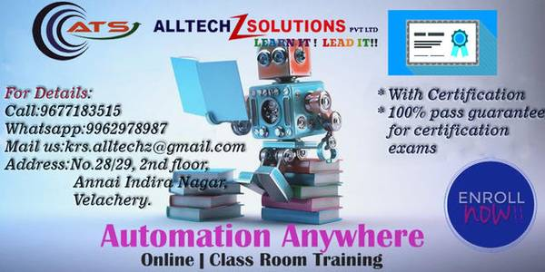 Best Automation Anywhere Training Institute in Velachery