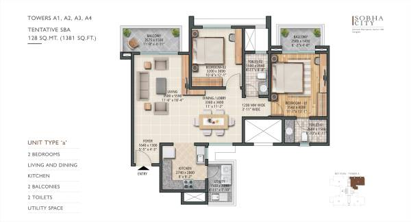 Sobha City | 2/3/4 BHK Luxury Apartments in Sector 108