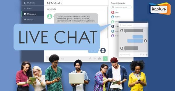 Kapture live chat system for customer support