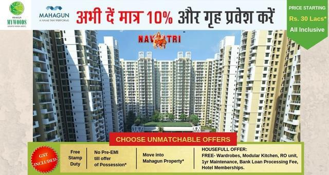 Navratre Offers by Mahagun Book a flat by paying only 10 o