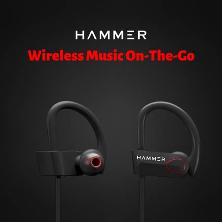 Hammer Zest-H Wireless Bluetooth Sports Earphones(Black)