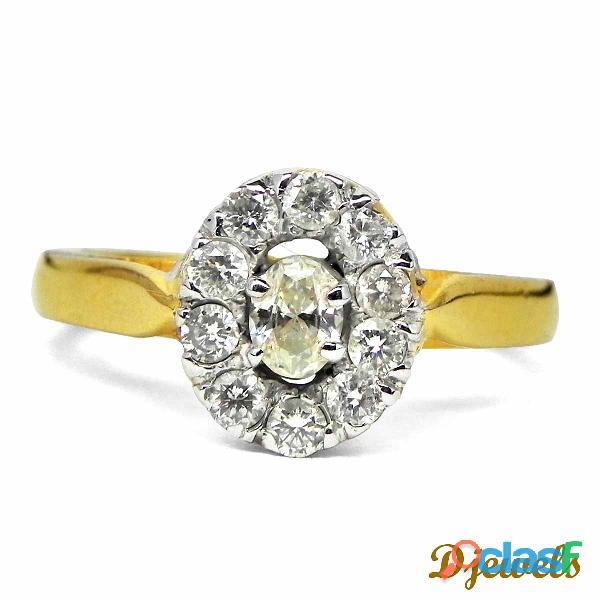 Oval Shape Diamond Ladies Ring