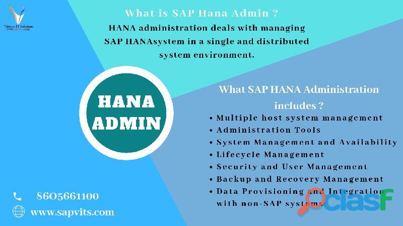 SAP Hana Admin Online Training | SAPVITS | India