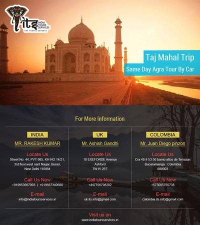 Taj Mahal Trip Or Same Day Agra Tour By Car