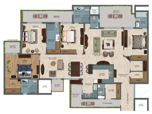4 BHK Flats/Apartments Property in Sector 82
