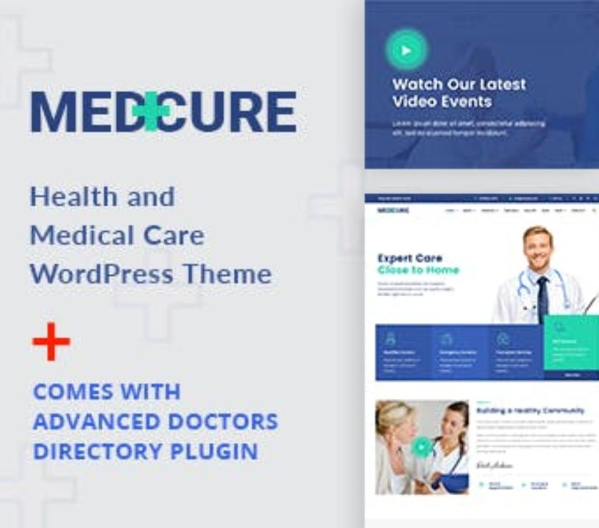 Medcure - Health and Medical Care WordPress Theme Coimbatore