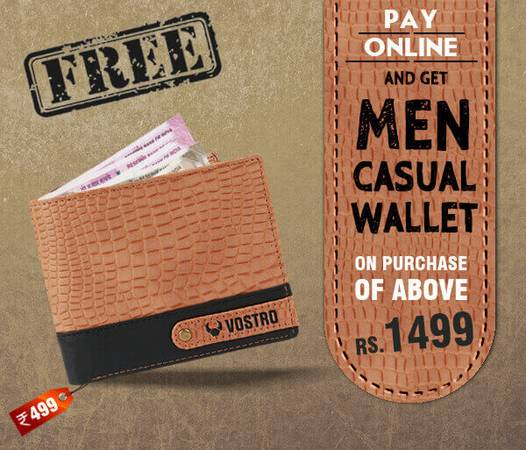 Pay Online – Get Free Wallet on Purchase VOSTRO Shoes