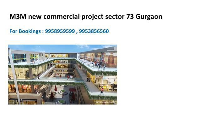 m3m new project sector 73 Gurgaon m3m commercial spr Gurgaon