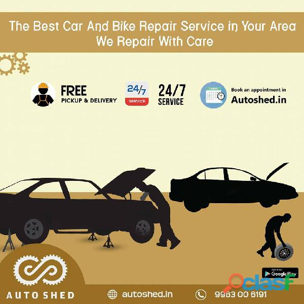 Car and Bike Repair Service Center in Hitech City, Madhapur,