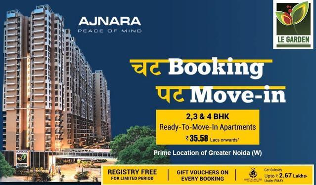 Ajnara Le Garden 2 bhk booking call us 9071760760