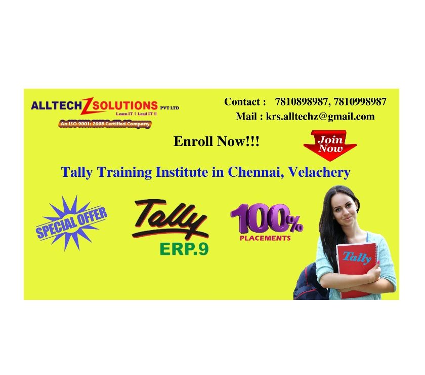 Best Tally Training Institute in Chennai Chennai