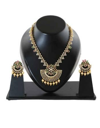 Buy Designer American Diamond Necklace Set Online at Lowest