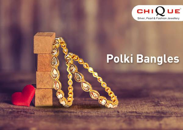 Buy A Pair Of Gorgeous Polki Bangles from Chique Fashion