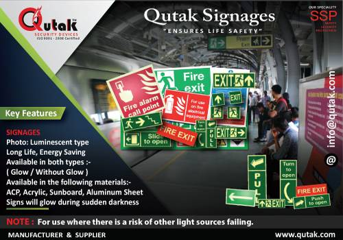 Get the new Signages...Now - by Qutak Security Devices