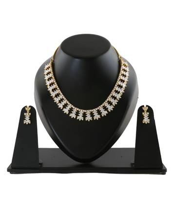 An Exclusive American Diamond Necklace Set at Lowest Price