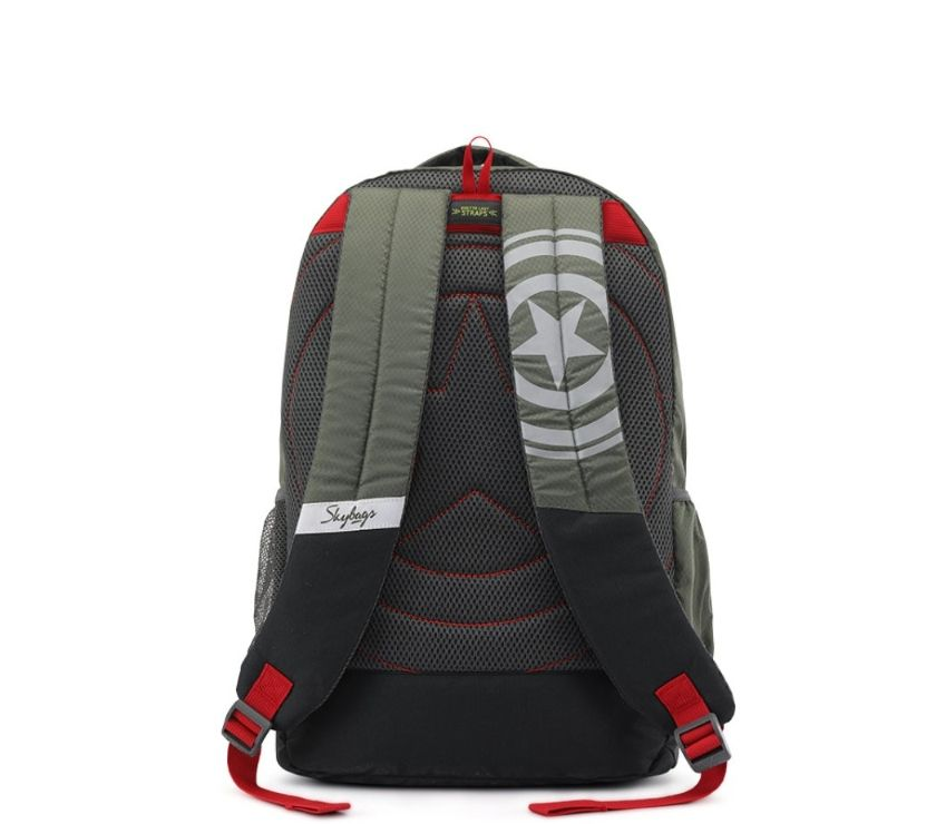 Skybags SB Marvel Captain America Olive Green School Backpac