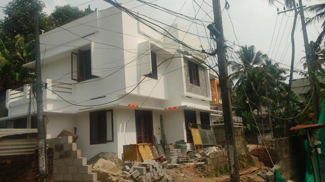 Muttada 45 cents 1750sqf 3 bhk under contration house at