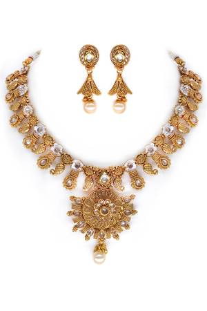 Shop for this stunning meenakari polki necklace set at the