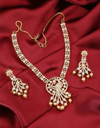 Buy Latest American Diamond Necklace at best price from