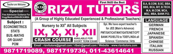 Top Tuition Bureau in Delhi