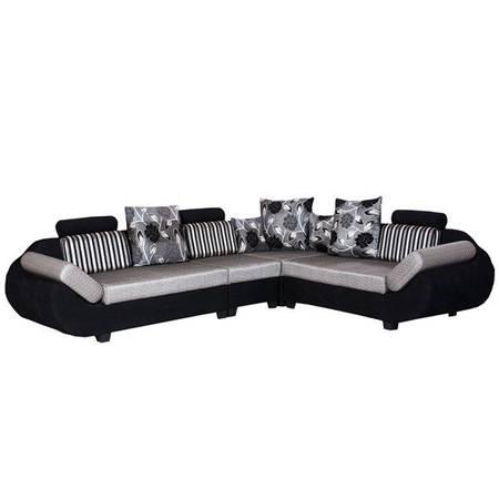 48% off on Bharat Lifestyle 888 Fabric 6 Seater Black & Grey