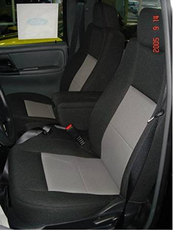 Durafit Seat Covers F282-Black/Gray - Ford Ranger XLT Pickup