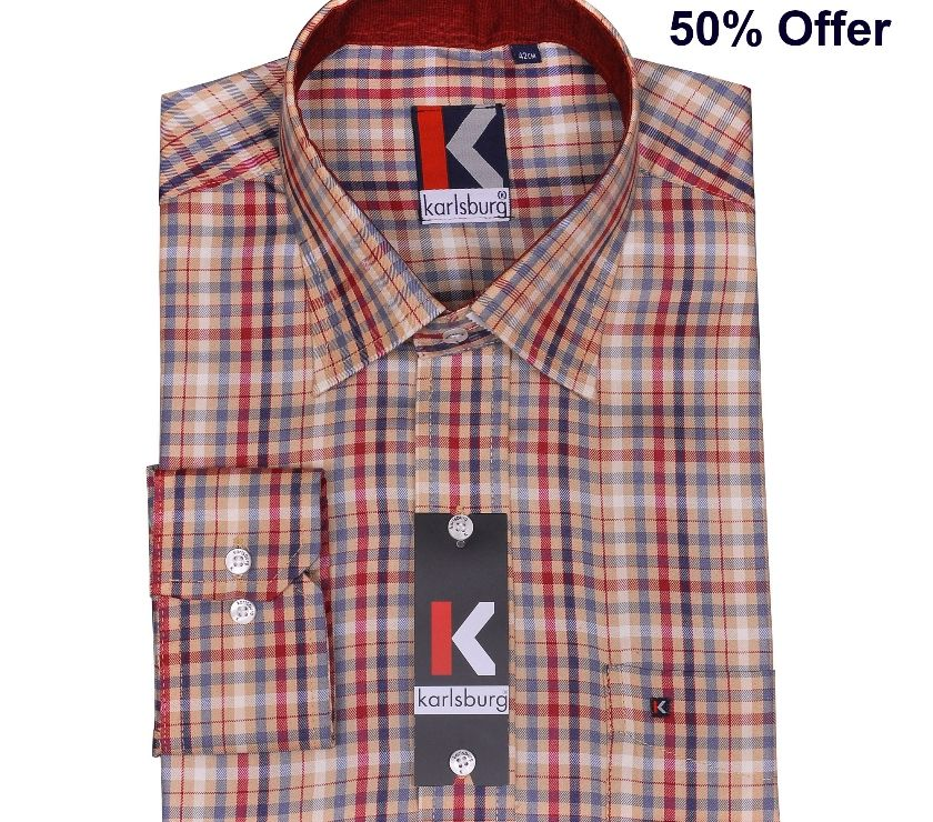 Branded Mens Shirts in offer Price - Karlsburg Chennai