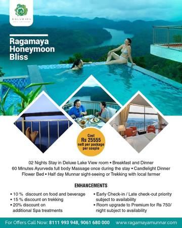 Munnar Resorts Honeymoon Packages   Offers at Ragamaya