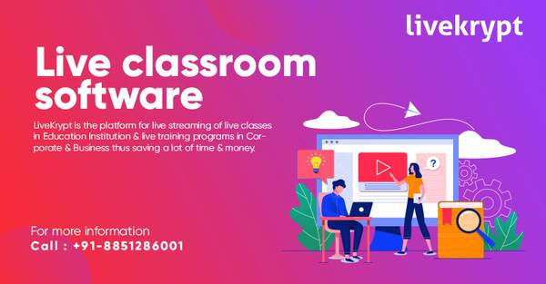Livekrypt: India's No.1 Live Classroom Software for Live