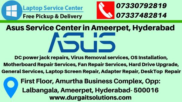 Asus service center in Hyderabad