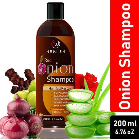 Newish Red Onion Shampoo For Hair Regrowth and Hairfall