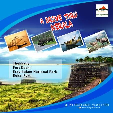 Plan Kerala tour packages from Chennai South India tour